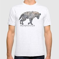 Suspicious Mens Fitted Tee Ash Grey SMALL