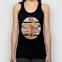 Glitch Pin-Up: Gwen Unisex Tank Top