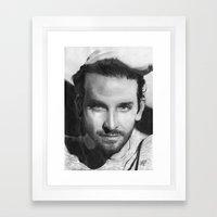 Bradley Cooper Traditional Portrait Print Framed Art Print