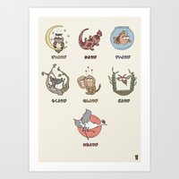 japanese week Art Print