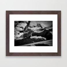 Don't say AWWW Framed Art Print