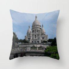 Sacre Coeur Paris France Throw Pillow