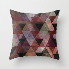 Abstract #482 Triangle Collage Throw Pillow