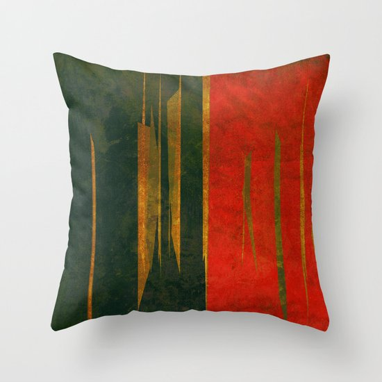 竹林の戦い (battle in the bamboo forest) Throw Pillow