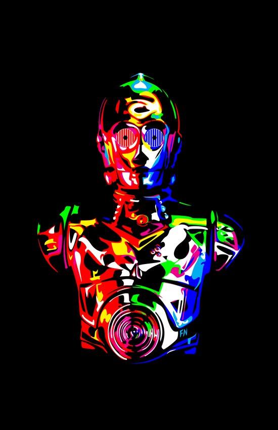 Star Wars: C-3POCMYKRGB Art Print