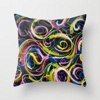 Colorful Life Throw Pillow
