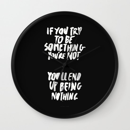 Being Nothing Wall Clock