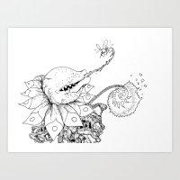 Nature Bites! Art Print