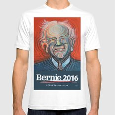 Bernie Sanders White Mens Fitted Tee SMALL