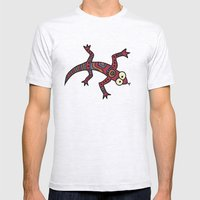 Lizard Mens Fitted Tee Ash Grey SMALL