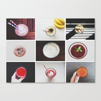Canvas Print featuring Morning stories - SMOOTHIE set by Lucia Jesenská