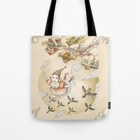 Tote Bag featuring Dreams of Flying by Ruta13