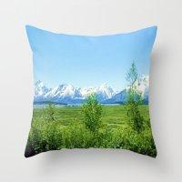 Spring Tetons Throw Pillow