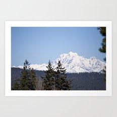 Eastern Washington Snow Obstacles  Art Print