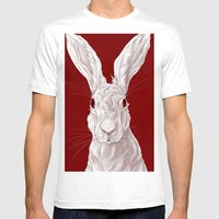 Red Rabbit  Mens Fitted Tee White SMALL