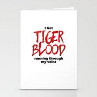 Tiger Blood Stationery Cards