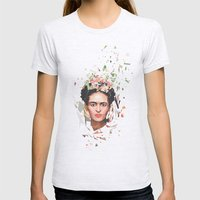Frida Womens Fitted Tee Ash Grey SMALL