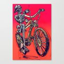 Calaveira Rider Canvas Print