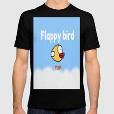 Flappy Bird Mens Fitted Tee Black SMALL