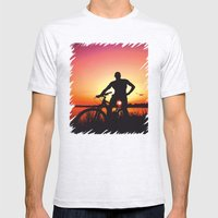 Sunset Magic Mens Fitted Tee Ash Grey SMALL