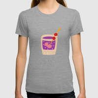 Alcohol_01 Womens Fitted Tee Tri-Grey SMALL