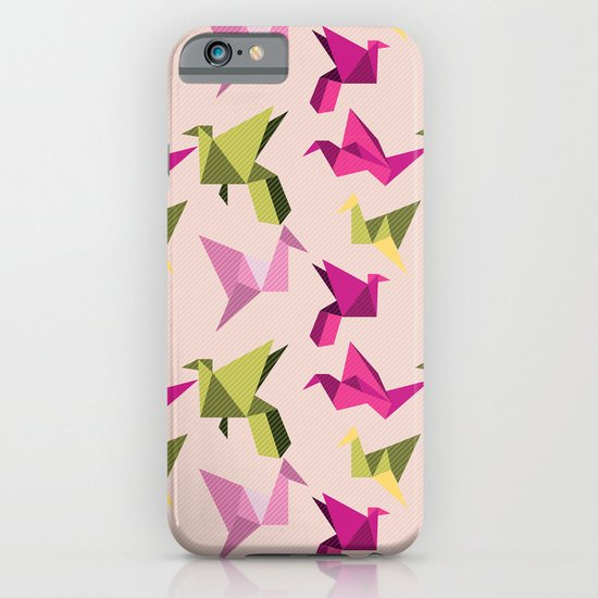 pink paper cranes iPhone & iPod Case