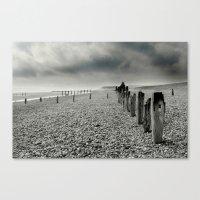 On Winchelsea Beach Canvas Print