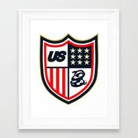 US Soccer Framed Art Print