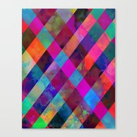 Rio Plaid Canvas Print