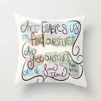 Art Enables Us Throw Pillow
