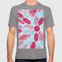 Patchwork-Collage Love Mens Fitted Tee Tri-Grey SMALL