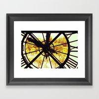 Clock in Musee D'Orsay, Paris Framed Art Print