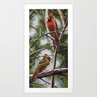 Lolita's Cardinals Art Print
