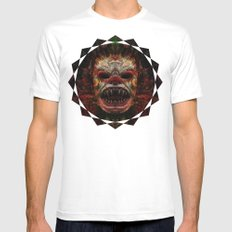 Demon White Mens Fitted Tee SMALL