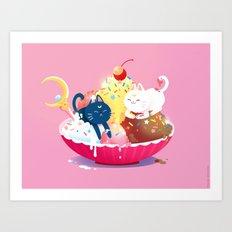 Moonie Sundae  Art Print