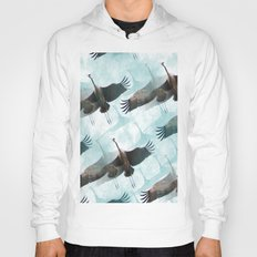 Abstract Whooping Cranes  Hoody