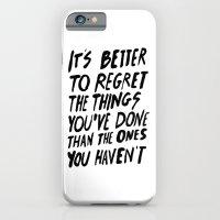 #NOREGRETS iPhone 6 Slim Case