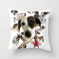 Lucy! Throw Pillow
