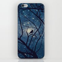 Moon light Crow iPhone & iPod Skin