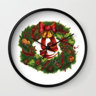 Christmas Wreath. Art No… Wall Clock