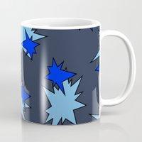 Stars (Navy & Sky on Blue) Mug