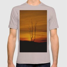 Lone tree sunset Mens Fitted Tee Cinder SMALL