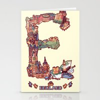 E Is For England Stationery Cards