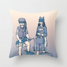 Moonrise Gotham Throw Pillow