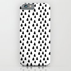 Black and white triangles pattern - classy college student collection Slim Case iPhone 6s