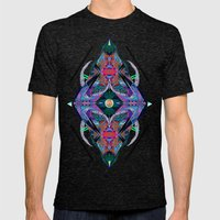 Faux Mens Fitted Tee Tri-Black SMALL