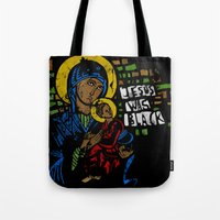 Jesus was black Tote Bag