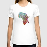 africa T-shirts featuring Africa by mthbt