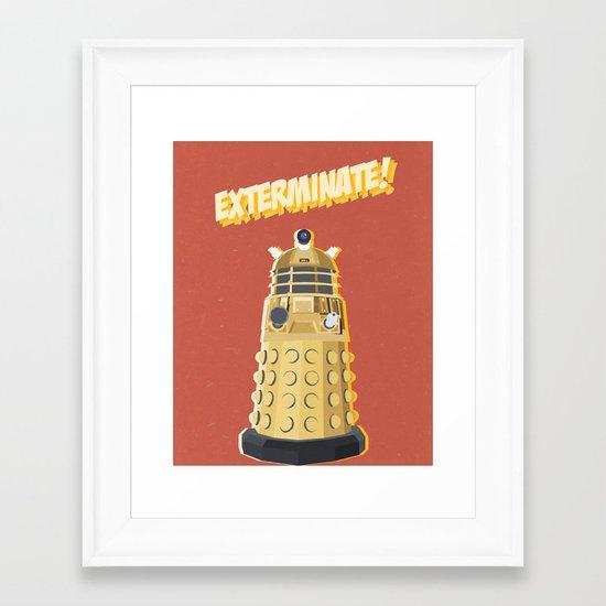 Dalek Doctor Who Framed Art Print