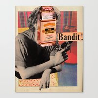 Canvas Print featuring Tequila Bandit by Alicia Ortiz